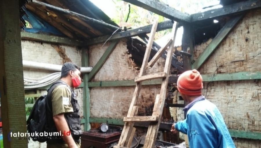 Rumah Warga Sukalarang Sukabumi Terbakar