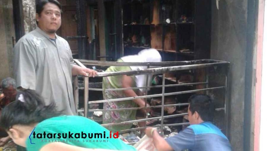 Rumah Sekaligus Depot Bensin Eceran di Ciracap Terbakar, Uang 60 Juta Hasil Jual Domba Terbakar
