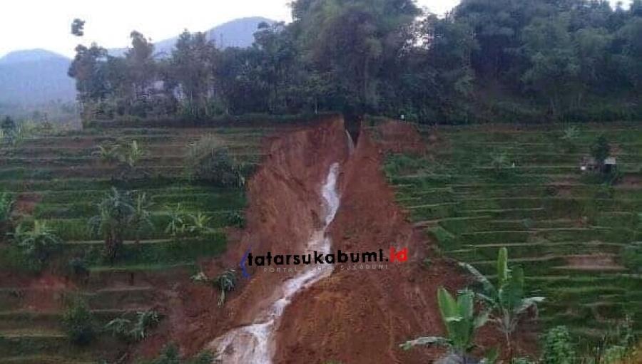 Irigasi Sabilulungan Kabandungan Sukabumi Diterjang Longsor 30 HA Areal Pertanian Terancam
