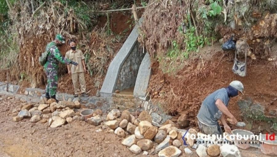 Koramil 2205 Kalapanunggal Monitor Program Pembangunan Desa