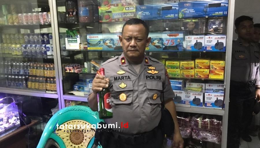 Polres Sukabumi Razia Toko Penjual Miras