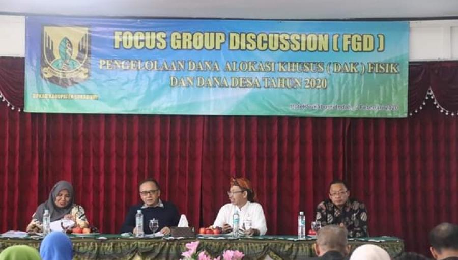 FGD Pengelolaan DAK dan Dana Desa 2020 Kabupaten Sukabumi