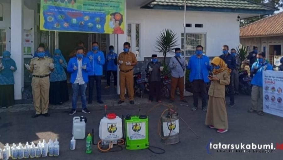 KNPI Gunungguruh Bagi-bagi Hand Sanitizer dan Semprot Disinfektan 80 Masjid