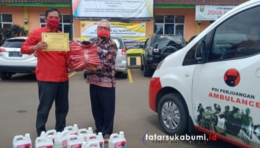 Bantuan PDI Perjuangan Bagi Tim Medis RSUD Sekarwangi Sukabumi