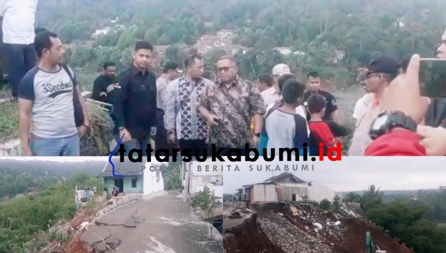 Rumah Amblas Masuk Jurang di Parungkuda, 4 Rumah Kembali Dievakuasi, Marwan Hamami : Saya Akan Tinjau Lagi Izinnya
