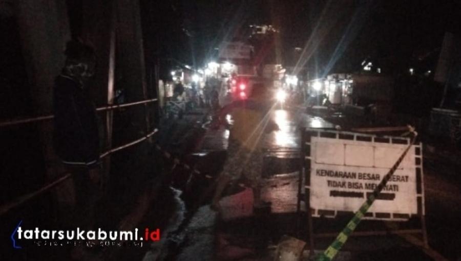 Hati-hati Jembatan Bagbagan Palabuhanratu Rusak