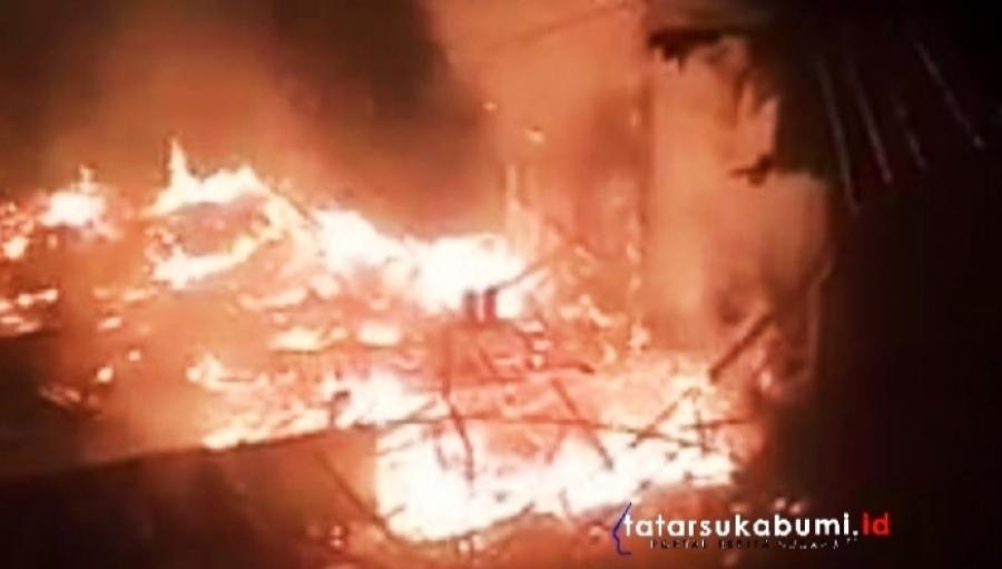 Kebakaran di Sagaranten Pemilik Rumah Sedang Berkunjung ke Tempat Kerabat di Sukabumi