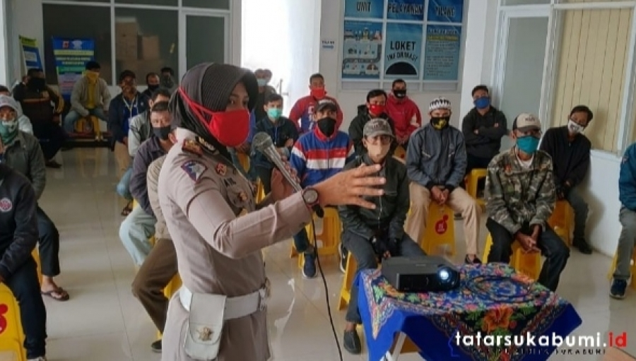 Polres Sukabumi Kota Latih Ojek Pangkalan Etika Lalu Lintas