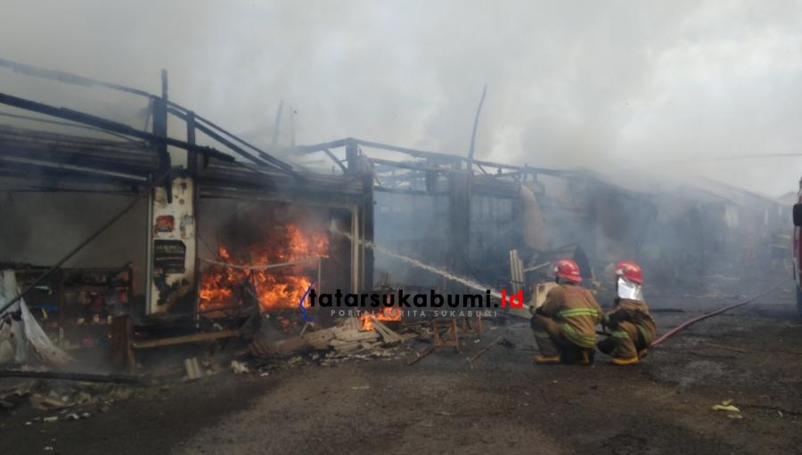 Pasar Penampungan Eks Pasar Pelita Sukabumi Kembali Terbakar