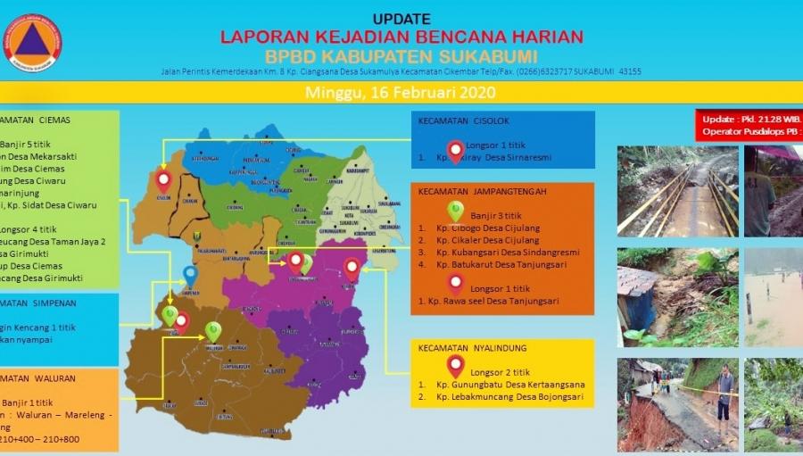 Hidrometeorologi Sebabkan 18 Kejadian Bencana di 6 Kecamatan Sukabumi
