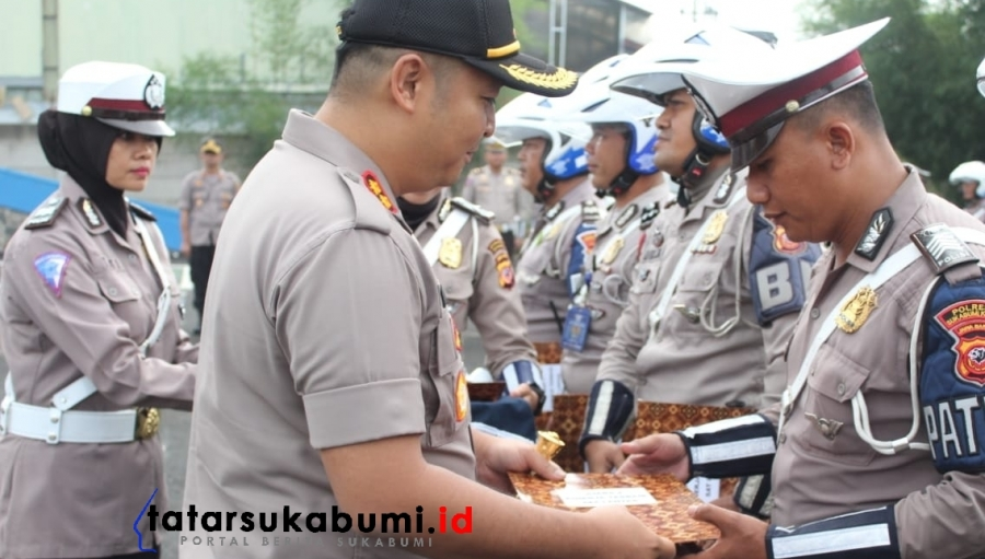 6 Polantas Polres Sukabumi Kota Raih Reward