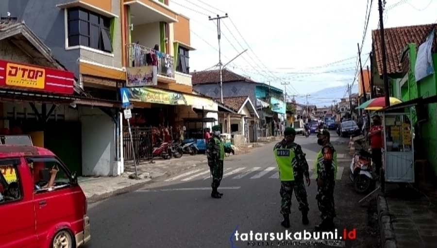 Operasi Yustisi Jelang Vaksinasi Koramil 0702 Citamiang Sukabumi