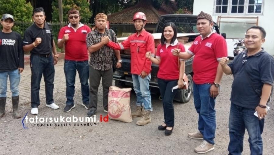PERADI Sukabumi Bangun Jembatan Ambrol Akibat Terjangan Banjir Bandang Cicurug
