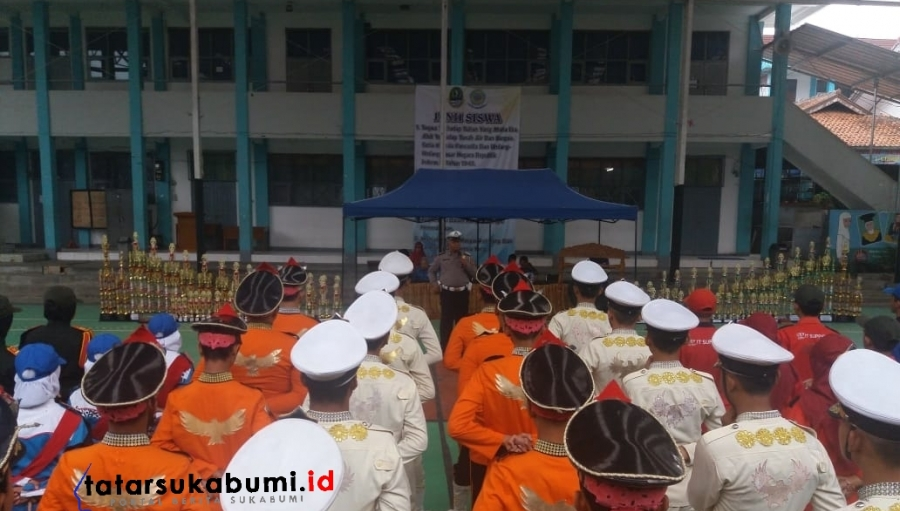 976 Pelajar SMP dan SMA Ikuti LKBB Sat Lantas Polres Sukabumi di SMAN 1 Cibadak