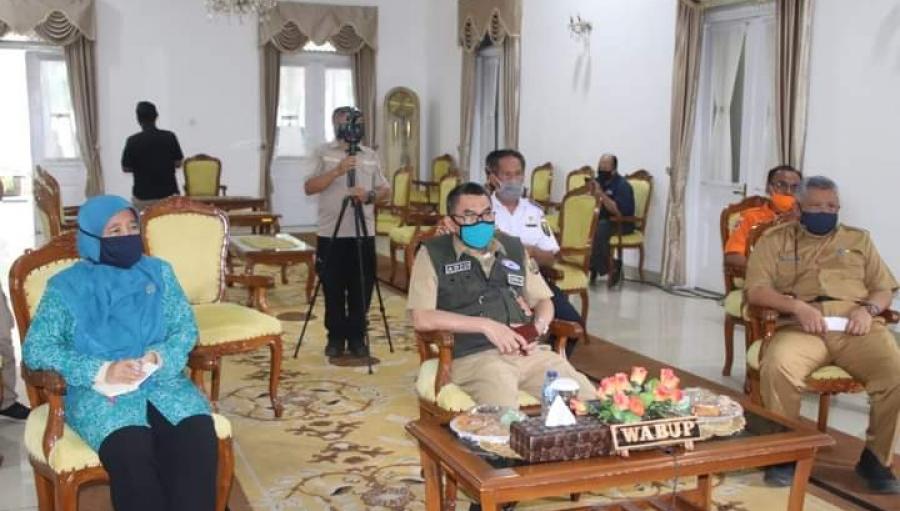 Rakor Virtual Pemkab Sukabumi, Tito Karnavian : Disiplin Kunci Pencegahan Pandemi