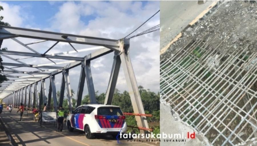 Rekayasa Lalin Polres Sukabumi Jembatan Penghubung Palabuhanratu - Surade Dalam Perbaikan