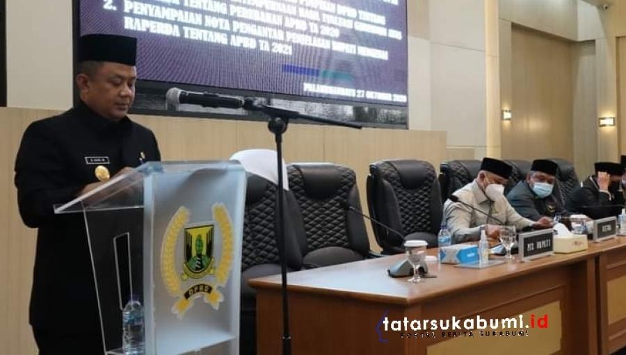 Paripurna DPRD Kabupaten Sukabumi Bahas Anggaran Perubahan Serta Penyampaian Raperda APBD 2021