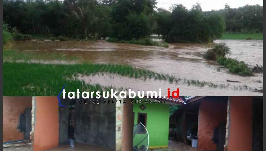 Ciemas Dikepung Longsor dan Banjir, Ratusan Hektare Areal Pertanian Terendam Air 5 Desa Terisolir
