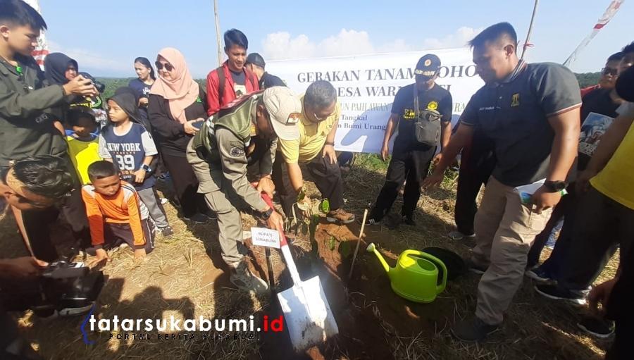 Bupati Sukabumi Gandeng Milenial Tanam 50 Ribu Pohon di Cibadak