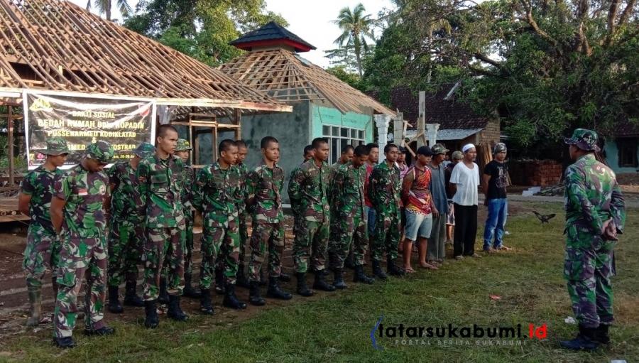 TNI Bedah Rumah Ustadz dan Mushola Ciwaru Sukabumi