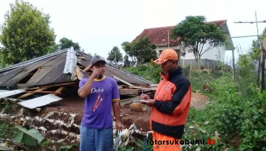 88 Rumah di Jampang Tengah Diterpa Puting Beliung