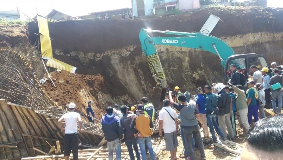 2 Pekerja Proyek Double Track Kereta Api Sukabumi - Bogor Tewas Tertimbun