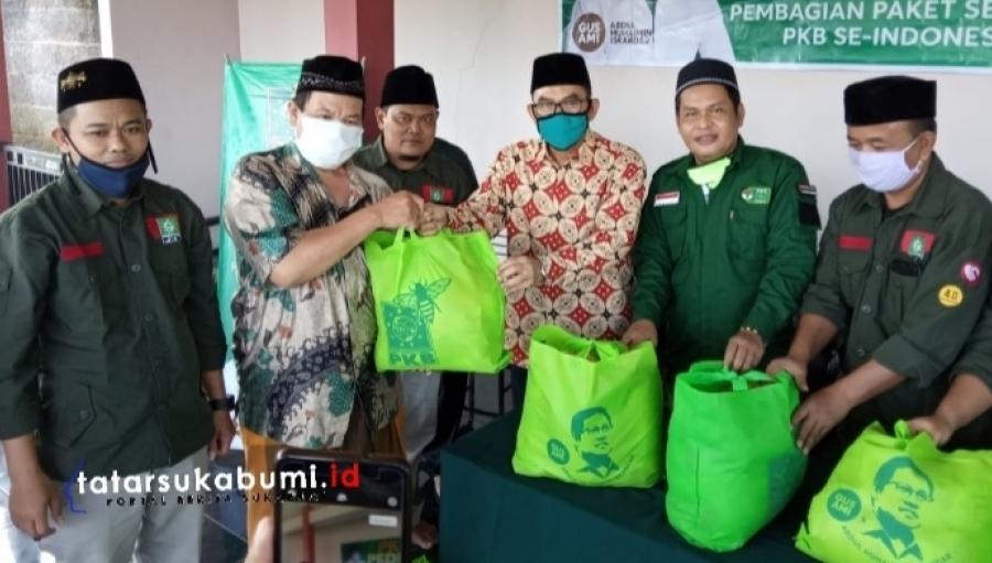 PKB Kabupaten Sukabumi Distribusikan 1000 Paket Sembako Bantuan Bagi Guru Ngaji