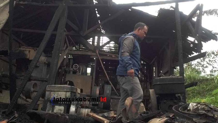 Kebakaran Pabrik Penggilingan Padi di Cianaga Kabandungan