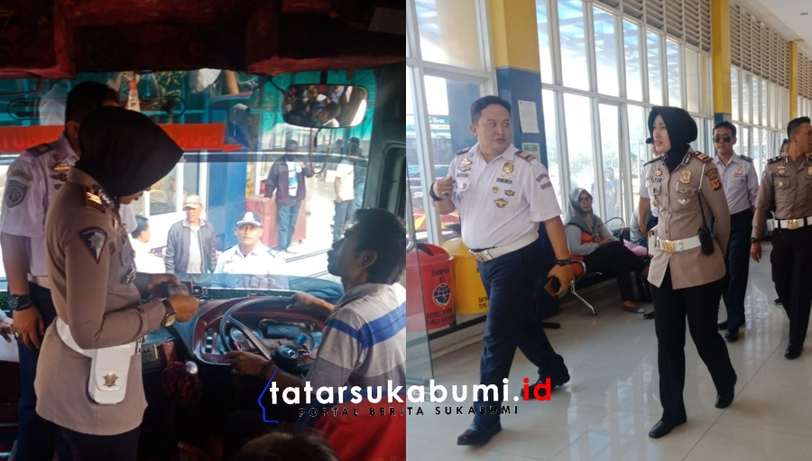 Tingkatkan Keamanan Kasat Lantas Polres Sukabumi Kota Pantau Terminal Lingkar Selatan Sukabumi