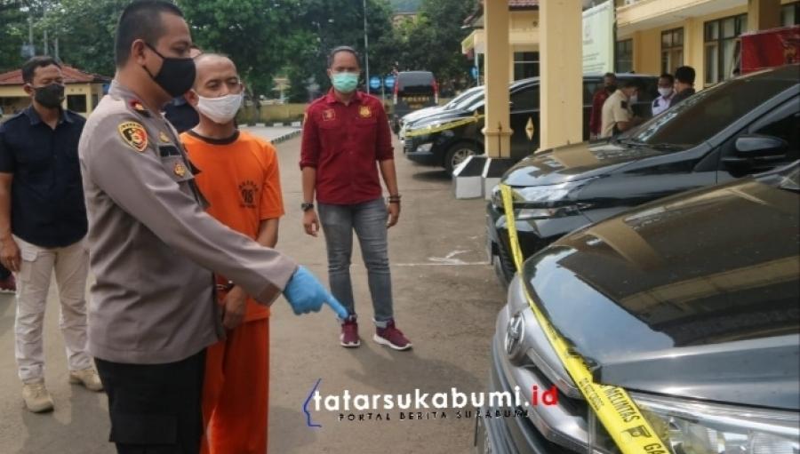 Polres Sukabumi Bongkar Kasus Penggelapan Modus Rental Mobil di Palabuhanratu
