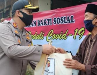 Jelang Ramadhan Polres Sukabumi Kota Baksos 850 Paket Sembako
