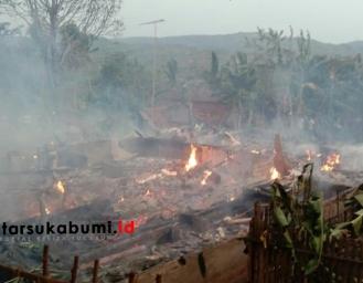 3 Rumah di Cikembar Sukabumi Ludes Terbakar
