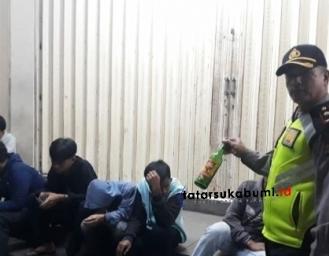 Tekan Tindak Kejahatan 'Malam' Polres Sukabumi Gelar Razia