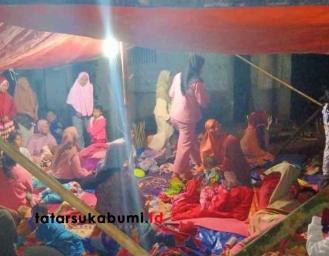 Ratusan Rumah di Sukabumi Rusak Akibat Gempa Ratusan Warga Tidur di Tenda Pengungsian