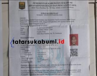 Disdukcapil Sukabumi Beri Kemudahan Tukar Suket Jadi e-KTP, Begini Caranya