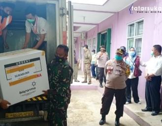 3300 Vial Vaksin Sinovac Kembali Tiba di Kabupaten Sukabumi