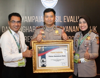 Menpan RB Daulat Polres Sukabumi Kota Sebagai Instansi Kepolisian Dengan Pelayanan Publik Terbaik