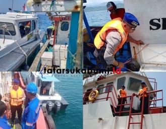 Potensi Gelombang Tinggi di Perairan Palabuhanratu, Satpol Air Polres Sukabumi Sisir Kapal Nelayan