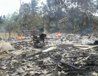 Kebakaran di Sagaranten Penghuni Rumah Tewas Mengenaskan