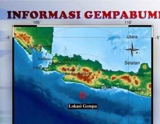 Guncangan Gempa di Sukabumi Pusat Gempa di Tasikmalaya
