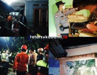 2 Rumah Warga Cicurug Rusak Berat Diterjang Longsor Polisi Tepis Isu Ada Korban Jiwa