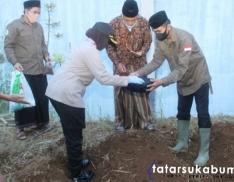 Program Ketahanan Pangan Pesantren, Polres Sukabumi Kota Tanam Sorgum 2 Hektare