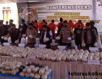 Polisi Bongkar 402 Kilo Sabu Jaringan Narkotika Internasional di Sukaraja Sukabumi