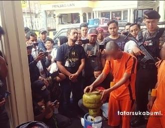 Pemain Gas Elpiji Oplosan Diringkus Polresta Sukabumi