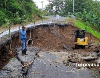 Kondisi Terkini Ruas Jalan Geopark Ciletuh Sukabumi