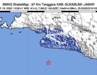 Sejumlah Warga Sukabumi Rasakan Guncangan Gempa
