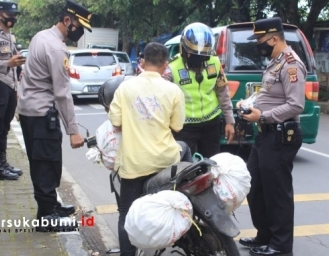 Razia Masker Helm dan Knalpot Racing Polres Sukabumi Kota