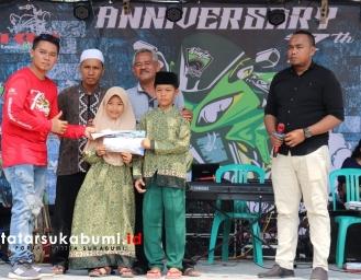 7 Anniversary Ninja Owner Society Sukabumi Dihadiri 70 Club Motor Kawasaki Ninja se-Indonesia