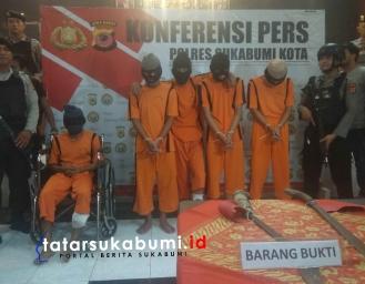 5 Berandal Pelaku Pembacokan di Benteng Sukabumi Berhasil Diringkus Polisi