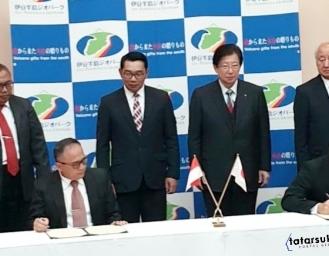 Kerjasama Bilateral Indonesia Jepang, Geopark Ciletuh Jawa Barat MoU dengan Izu Peninsula Geopark Shizuoka